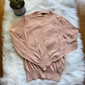 WHO WHAT WEAR Pink Roundneck Fitted Thin Sweater